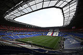 16th May 2018, Stade de Lyon, Lyon, France; Europa League football final, Marseille versus Atletico Madrid; A panoramic view of the pitch and inside stands before fans arrive