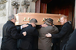 12/11/2013 - Paddy Cluskey's remains are carried in to St. Mary's Church.