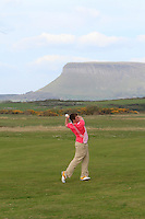 Gary Collins (Rosslare) on the 17th during round 2 of The West of Ireland Amateur Open in Co. Sligo Golf Club on Saturday 19th April 2014.<br /> Picture:  Thos Caffrey / www.golffile.ie