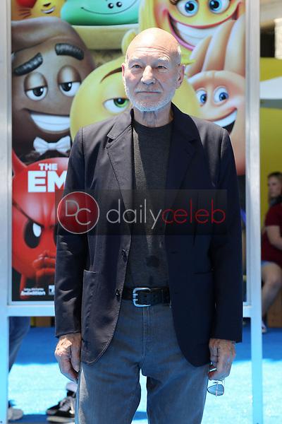 "Patrick Stewart<br /> at the premiere of ""The Emoji Movie,"" Village Theater, Westwood, CA 07-23-17<br /> David Edwards/DailyCeleb.com 818-249-4998"