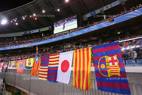 Barcelona fans, <br /> DECEMBER 17, 2015 - Football / Soccer : <br /> FIFA Club World Cup Japan 2015 <br /> semi-final match between Barcelona 3-0 Guangzhou Evergrande <br /> at Yokohama International Stadium in Kanagawa, Japan.<br /> (Photo by Yohei Osada/AFLO SPORT)