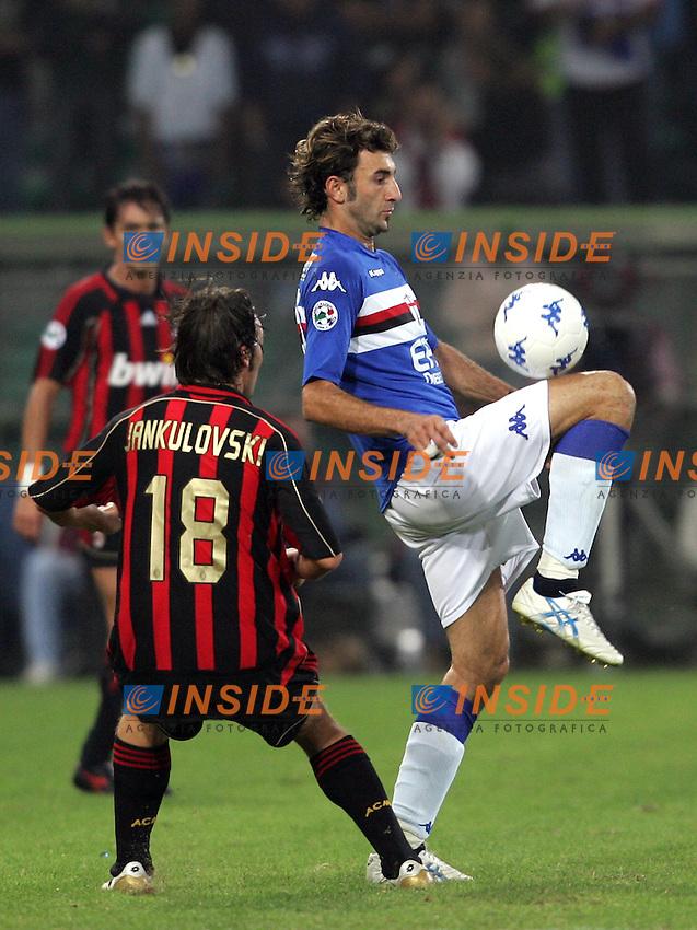 Gennaro Delvecchio (Sampdoria), Marek Jankulovski (Milan)<br /> Italian &quot;Serie A&quot; 2006-2007<br /> 14 Oct 2006 (match day 6)<br /> Sampdoria - Milan (1-1)<br /> &quot;Luigi Ferraris&quot; Stadium - Genova - Italy<br /> Photographer: Andrea Staccioli Inside