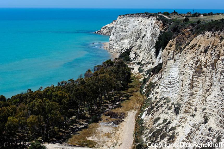 Kalkfelsen bei Eraclea Minoa, Sizilien, Italien