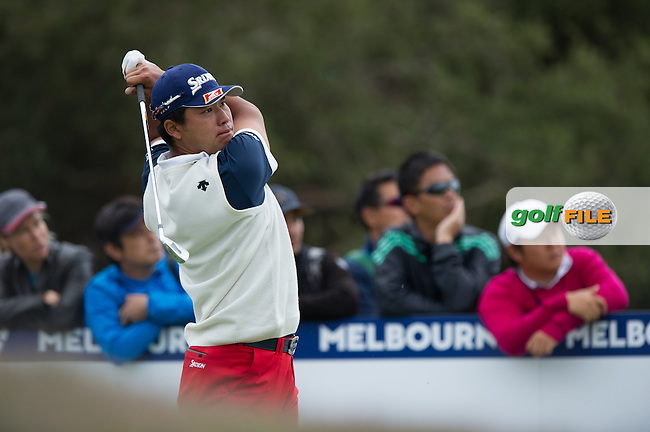 Hideki Matsuyama (JPN) during round 3 at the ISPS Handa World Cup of Golf, from Kingston heath Golf Club, Melbourne Australia. 26/11/2016<br /> Picture: Golffile | Anthony Powter<br /> <br /> <br /> All photo usage must carry mandatory copyright credit (&copy; Golffile | Anthony Powter)