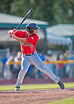 4 September 2016: Lowell Spinners outfielder Tyler Hill in action against the Vermont Lake Monsters at Centennial Field in Burlington, Vermont. The Spinners defeated the Lake Monsters 8-3 in NY Penn League action. Mandatory Credit: Ed Wolfstein Photo *** RAW (NEF) Image File Available ***