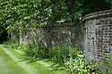 Crinkle Crankle Wall, Vann House and Garden, Surrey, mid June.