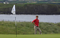 Sean Flanagan (Co. Sligo) on the 3rd green during Matchplay Round 1 of the South of Ireland Amateur Open Championship at LaHinch Golf Club on Friday 22nd July 2016.<br /> Picture:  Golffile | Thos Caffrey<br /> <br /> All photos usage must carry mandatory copyright credit   (© Golffile | Thos Caffrey)