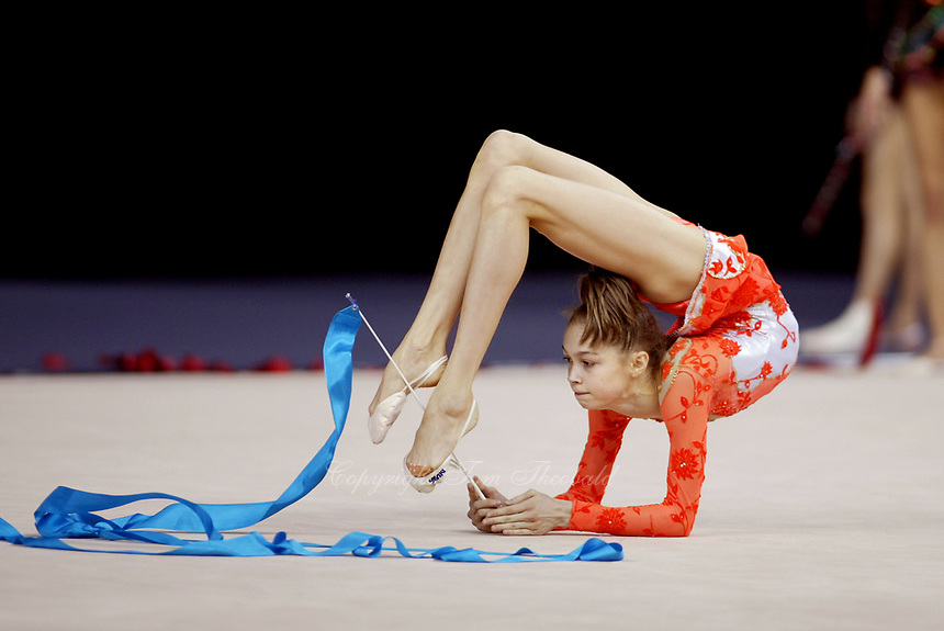 September 23, 2003; Budapest, Hungary; VALERIA KURYLSKAYA of Belarus trains with ribbon at 2003 World Championships.