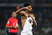 February 1st 2019; Adu Dhabi, United Arab Emirates; Asian Cup football final, Japan versus Qatar;  Akram Hassan Afif of Qatar celebrates during the final match