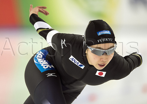05.03.2016. Berlin, Germany. Ayaka Kikuchi of Japan in her 500 metre race at the ISU World Allround Speed Skating Championships in Berlin.