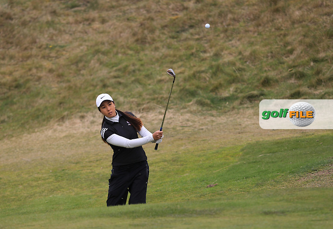 Inci Mehmet (ENG) on the 1st tee during Round 1 of the Irish Women's Open Stroke Play Championship at The Island Golf Club on Friday 8th April 2016.<br /> Picture:  Golffile / Thos Caffrey