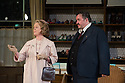 London, UK. 13.06.2014. Regent's Park Open Air Theatre presents HOBSON'S CHOICE, by Harold Brighouse. Directed by Nadia Fall. Picture shows:  Joanna David (Mrs Hepworth) and Mark Benton (Henry Hobson). © Jane Hobson.