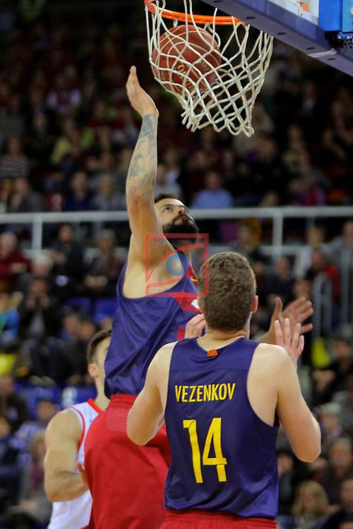 League ACB-ENDESA 2016/2017 - Game: 21.<br /> FC Barcelona Lassa vs ICL Manresa: 92-72.<br /> Victor Faverani &amp; Aleksandar Vezenkov.