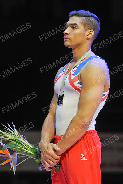 European Gymnastics Championships. Montpelier France. Senior Mens Individual Apparatus Finals  27.5.12. .European Gymnastics Championships. Montpelier France. Senior Mens Individual Apparatus Finals  27.5.12. .Louis Smith takes Silver Medal on Pommels