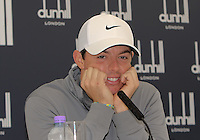 30 Sept 14 Northern Irishman Rory McIlroy during Wednesday's Press Conference at The Alfred Dunhill Links Championship at The Old Course in St. Andrews, Scotland. (photo credit : kenneth e. dennis/kendennisphoto.com)