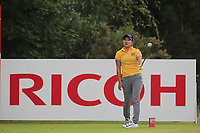 Misuzu Narita (JPN) on the 3rd tee during Round 2 of the Ricoh Women's British Open at Royal Lytham &amp; St. Annes on Friday 3rd August 2018.<br /> Picture:  Thos Caffrey / Golffile<br /> <br /> All photo usage must carry mandatory copyright credit (&copy; Golffile | Thos Caffrey)