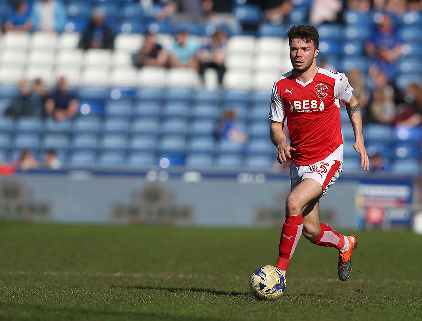 Fleetwood Town's Joe Maguire<br /> <br /> Photographer Stephen White/CameraSport<br /> <br /> The EFL Sky Bet League One - Oldham Athletic v Fleetwood Town - Saturday 8th April 2017 - SportsDirect.com Park - Oldham<br /> <br /> World Copyright &copy; 2017 CameraSport. All rights reserved. 43 Linden Ave. Countesthorpe. Leicester. England. LE8 5PG - Tel: +44 (0) 116 277 4147 - admin@camerasport.com - www.camerasport.com