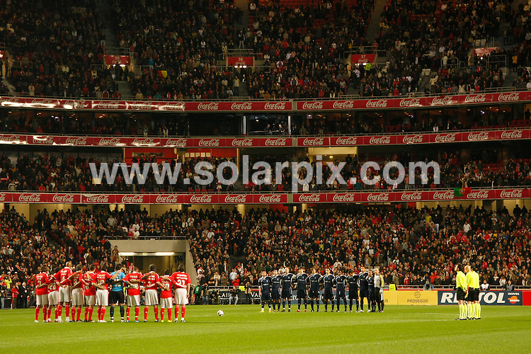 **ALL ROUND PICTURES FROM SOLARPIX.COM**.**SYNDICATION RIGHTS FOR UK AND SPAIN ONLY**.Lisbon January 25, 2010.Portuguese Prime Minister Jose Socrates attended the Match Against Poverty held on Monday at the Estadio da Luz, with all proceeds going to help the earthquake victims in Haiti. Brasilian Ronaldo, advanced Corinthians, delegated Kaka as its representative. Stars included, Lucas Radebe (South Africa), Akwa (Angola), Kaka, Ricardo Pereira (Portuguese actor), Marcelo and Luciano da Silva (Brazil), Michael Laudrup (Denmark), Fernando Hierro (Spain), Zinedine Zidane, Fabien Barthez and Christophe Dugarry (FranÁais), Jean Sony and Joseph Peterson (Haiti), Baichung Bhutia (ondi), Le Saux (England), Edgar Davids, Patrick Kluivert, Phillip Cocu (Netherlands), Luis Figo, Fernando Couto, Pauleta (Portugal), Pavel Nedved (Czech Republic), Gheorghe Hagi and Gheorghe Popescu (Romania) and Alfredo Esteves (East Timor).Who refereed was the Italian Pierluigi Collina, who recently was considered the best referee of all time.A team of players linked to Benfica counted with Eusebio, Nene, Rui Costa, Nuno Gomes.This pic:   Estadio da Luz, Lisbon.JOB REF:   10549     PRT        DATE:   26.01.09.**MUST CREDIT SOLARPIX.COM OR DOUBLE FEE WILL BE CHARGED**.**MUST NOTIFY SOLARPIX OF ONLINE USAGE**.**CALL US ON: +34 952 811 768 or LOW RATE FROM UK 0844 617 7637**