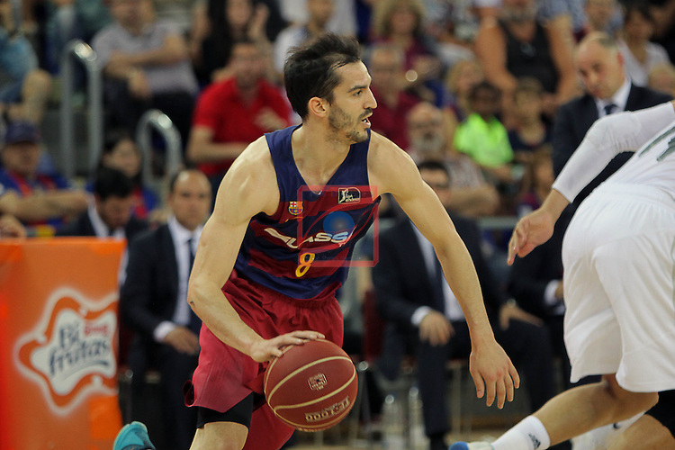 League ACB-ENDESA 2015/2016. <br /> Play-Off Final - Game 2.<br /> FC Barcelona Lassa vs Real Madrid: 70-90.<br /> Pau Ribas.