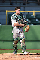 Beloit Snappers catcher Philip Pohl (12) during a game against the Clinton LumberKings on August 17, 2014 at Ashford University Field in Clinton, Iowa.  Clinton defeated Beloit 4-3.  (Mike Janes/Four Seam Images)