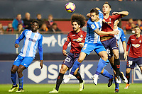 Unai Garcia (defender; CA Osasuna) during the Spanish football of La Liga 123, match between CA Osasuna and Málaga CF at the Sadar stadium, in Pamplona (Navarra), Spain, on Saturday, November 3, 2018.
