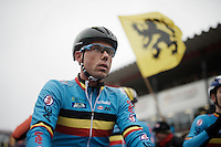 Sven Nys (BEL/Crelan-AAdrinks) at the start of his very last Worlds<br /> <br /> Men's Elite Race<br /> <br /> UCI 2016 cyclocross World Championships,<br /> Zolder, Belgium
