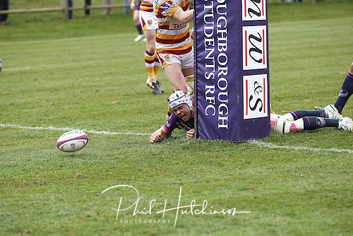 13.04.2013. Loughborough, England. Action during the SEE Division One fixture between Loughborough Students and Fylde RFC