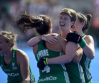 Ireland's Alison Meeke emotional after her team getting into the final <br /> Photographer Hannah Fountain/CameraSport<br /> <br /> Vitality Hockey Women's World Cup - Ireland v Spain - Saturday 4th August 2018 - Lee Valley Hockey and Tennis Centre - Stratford<br /> <br /> World Copyright &copy; 2018 CameraSport. All rights reserved. 43 Linden Ave. Countesthorpe. Leicester. England. LE8 5PG - Tel: +44 (0) 116 277 4147 - admin@camerasport.com - www.camerasport.com