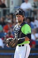 Tim Susanna (4) of the Hillsboro Hops during a game against the Spokane Indians at Ron Tonkin Field on July 23, 2017 in Hillsboro, Oregon. Spokane defeated Hillsboro, 5-3. (Larry Goren/Four Seam Images)