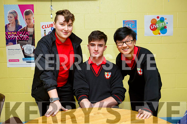 KERRY SCIENCE: Students from Mean Scoil An Leith Truig Castlegregory Secondary School   who participated in the Senior science quiz at Tralee IT on Thursday evening pictured here are Front l-r Alyssa Hesmen, Mikey Lyon and Lucy Walsh
