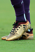 9th January 2018, nib Stadium, Perth, Australia; A League football, Perth Glory versus Melbourne City; Andy Keogh captain of the Perth Glory wearing his gold boots