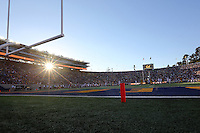 The sun sets on Memorial Stadium as Ohio State plays California during the quarter of the NCAA football game in Berkeley, California on Sept. 14, 2013. (Adam Cairns / The Columbus Dispatch)