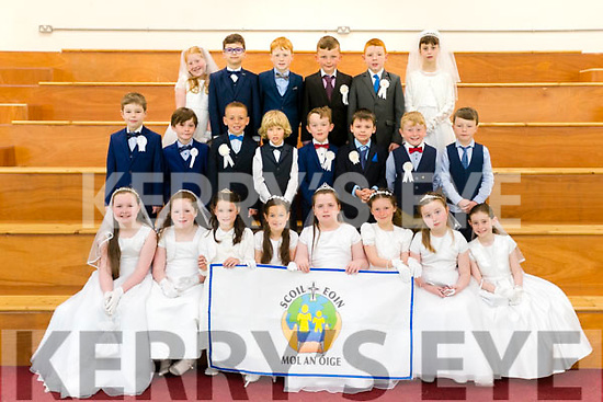 Pupils from second class, Scoil Eoin, Balloonagh, Tralee who made their First Holy Communion on Saturday last, pictured with their teacher Mrs Dennehy, front l-r: Naoise O'Carroll, Donna O'Regan, Kara Kirby, Jocelyn Cushen, Aisling Browne, Aoibheann McCarthy, Nicole Hartmann and Ava O'Connor.  Middle l-r: Cian Daughton, Denis Brassil, Ryan Onyekwere, Bogdan Meriakri, Cathal Fitzgerald, Matthew Guerin, Jamie Walsh and Jay Sweeney O'Connor. Back l-r: Grace Nolan, Eryk Musialkowski, Dan McElligott, Jack Costelloe Walsh, Joey Byrnes McLarnon and Saphy Richardson.