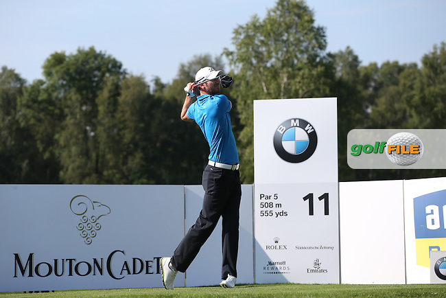 Chris Wood (ENG) on the 11th tee during Round Two of the 2015 BMW International Open at Golfclub Munchen Eichenried, Eichenried, Munich, Germany. 26/06/2015. Picture David Lloyd | www.golffile.ie