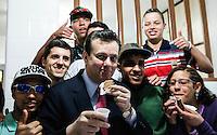 SAO PAULO, SP, 18 JULHO 2012 - INAUGURACAO RESIDENCIA TERAPEUTICAS - Prefeito Gilberto Kassab durante  Inauguração de 10 RTEs (Residências Terapêuticas Especiais) na regiao central da capital paulista. FOTO: VANESSA CARVALHO - BRAZIL PHOTO PRESS.