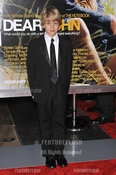 "Braeden Reed at the world premiere of ""Dear John"" at Grauman's Chinese Theatre, Hollywood..February 1, 2010  Los Angeles, CA.Picture: Paul Smith / Featureflash"