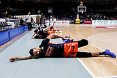 25th March 2018, Madrid, Spain; Endesa Basketball League, Real Madrid versus Valencia; Joan Sastre (Valencia Basket) Pre-match warm-up