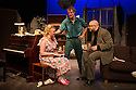 London, UK. 17.07.2014. Mountview Academy of Theatre Arts presents THE HOUSE OF BLUE LEAVES, by John Guare, directed by Jacqui Somerville, at the Unicorn Theatre, as part of the Postgraduate Season 2014. Picture shows: Cat Losty (Bunny Flingus), Tim Gibson (Artie Shaughnessy) and Jon Adams (Billy Einhorn). Photograph © Jane Hobson.