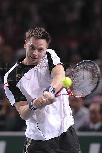 14.11.2010 ATP Master Tennis, Paris. Robin Soderling, Sweden, in the final match.
