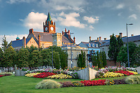 Guildhall with flower garden. Derry, Northern Ireland