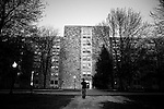 Ambler Johnston dormitory the evening of the day of the shootings....photo: Hector Emanuel