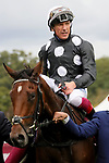 October 05, 2019, Paris (France) - Anapurna (7) with Lanfranco Dettori up after winning the Qatar Prix de Royallieu (Gr I) on October 5 at ParisLongchamp Race Course. [Copyright (c) Sandra Scherning/Eclipse Sportswire)]