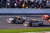 Michael Waltrip (15), Dale Earnhardt (3) battle for the lead Daytona 500, Daytona International Speedway, Daytona Beach, FL, February 18, 2001.  (Photo by Brian Cleary/ www.bcpix.com )