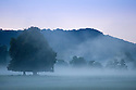 02/10/16 <br /> <br /> After a cold night  a misty dawn rises over the Chatsworth Estate in the Derbyshire Peak District this morning. <br /> <br /> All Rights Reserved: F Stop Press Ltd. +44(0)1773 550665   www.fstoppress.com