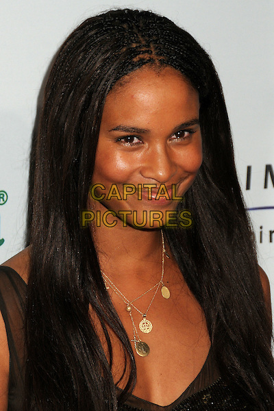 "JOY BRYANT .Oxfam America and Esquire House LA Host ""The Oxfam Party"" held at Esquire House LA, Los Angeles, California, USA, .18th November 2010..portrait headshot necklace gold dress bronze sequined sequin .CAP/ADM/BP.©Byron Purvis/AdMedia/Capital Pictures."