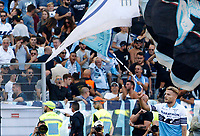 Lazio's Ciro Immobile celebrates after scoring during the Italian Serie A football match between Roma and Lazio at Rome's Olympic stadium, September 29, 2018. Roma won 3-1.<br /> UPDATE IMAGES PRESS/Riccardo De Luca