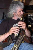 Dingle uileann piper Eoin Duignan plays his uileann pipes at An Drohead Beag Bar in Dingle Town.<br /> Picture by Don MacMonagle