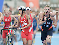 31 AUG 2007 - HAMBURG, GER - Lesly Derks (NED) - Junior Mens World Triathlon Championships. (PHOTO (C) NIGEL FARROW)