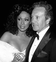 ***Vic Damone Has Passed Away aged 89***<br /> FILE PHOTO: Diahann Carroll and Vic Damone attend 38th Annual Primetime Emmy Awards on September 21, 1986 at the Pasadena Civic Auditorium in Pasadena, California. <br /> CAP/MPI/WAL<br /> &copy;WAL/MPI/Capital Pictures