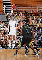 Florida International University guard Jeremy Allen (32) plays against Coastal Carolina University.  FIU won the game 64-62 on November 26, 2011 at Miami, Florida. .